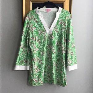 Lilly Pulitzer Pink and Green Floral Tunic
